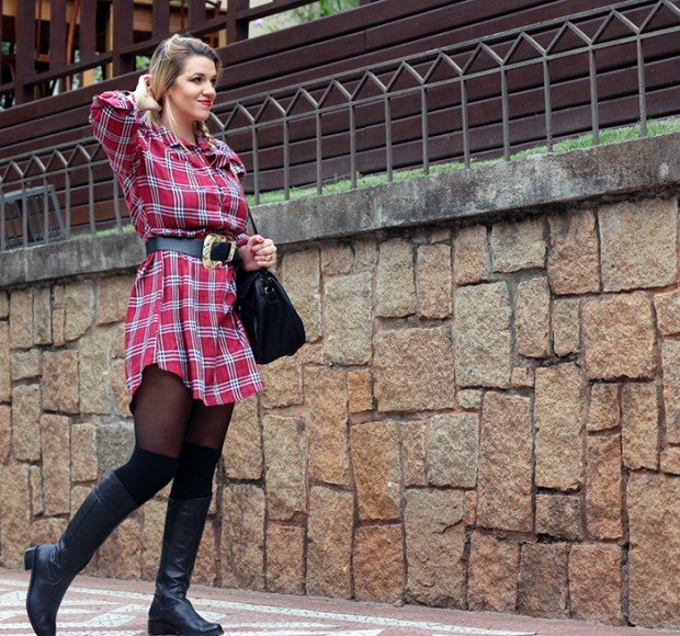 vestido xadrez verdade feminina