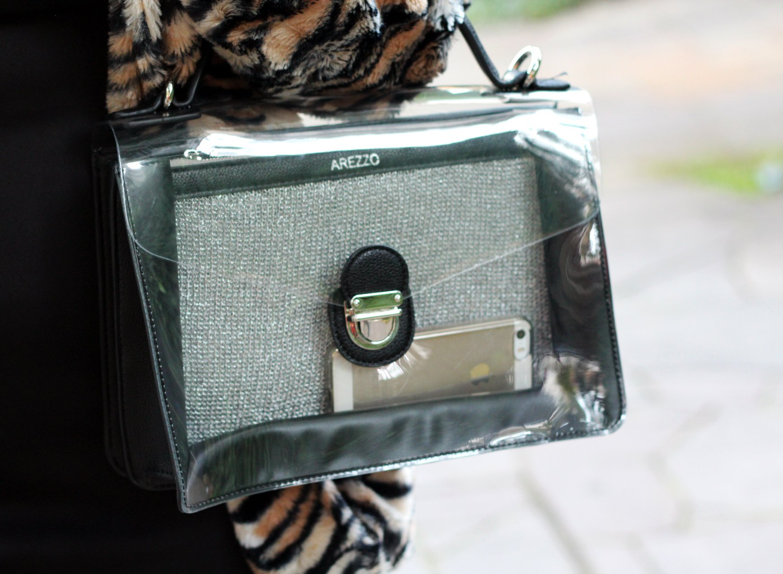 blogueira bolsa transparente
